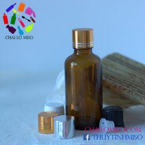 Chai tinh dầu nâu nhỏ giọt 50ml 1