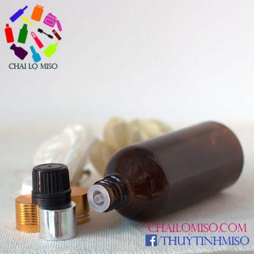 Chai tinh dầu nâu nhỏ giọt 100ml 2