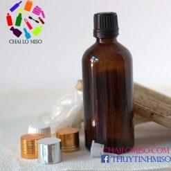 Chai tinh dầu nâu nhỏ giọt 100ml