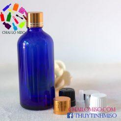 Chai tinh dầu xanh dương nhỏ giọt 100ml