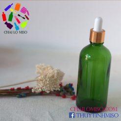 Chai tinh dầu xanh lá bóp giọt 100ml