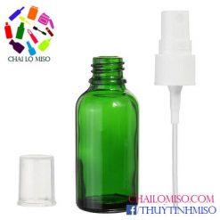 Chai tinh dầu xanh lá phun sương 50ml