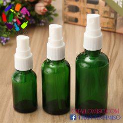 Chai tinh dầu xanh lá phun sương 10ml