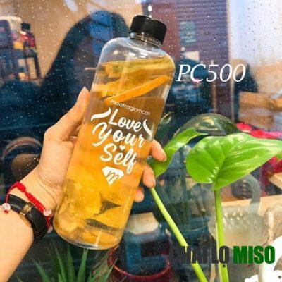 Chai nhựa PET 500ml cao