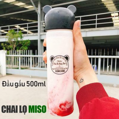 Chai nhựa PET đầu gấu 500ml