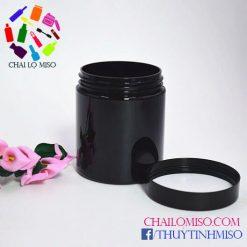 Hũ nhựa PET đen 250ml