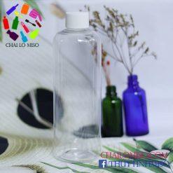 Chai nhựa nắp nhựa cao cấp 500ml form cao
