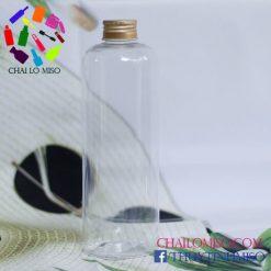 Chai nhựa nắp nhôm 500ml form cao