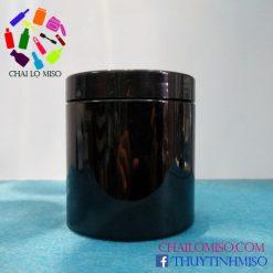 Hũ nhựa PET đen 500ml 3