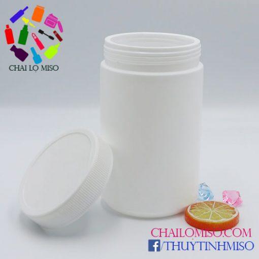 Hũ nhựa HDPE đựng bột 1000ml